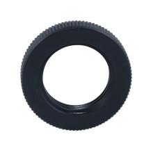 Custom Machined Precision Black Round Knurled Nuts