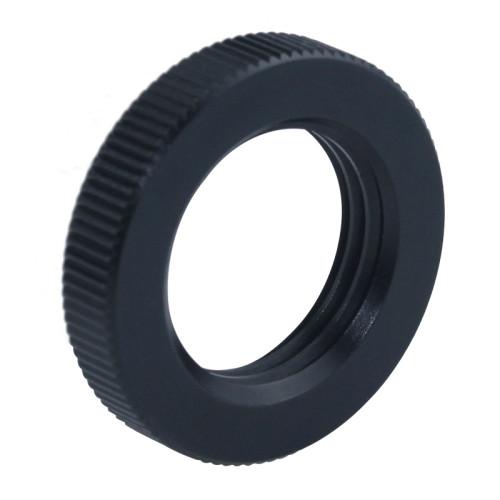 Custom Machined Precision Black Knurled Round Jam Nuts