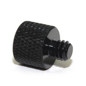 Customized precision stainless steel flat head black knurled thumb screws