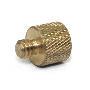 yellow galvanized precision carbon steel flat head knurled thumb screws