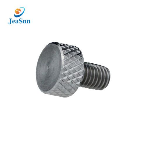 Custom High Quality Stainless Steel Nickel Plated Knurled Head Thumb  Screw