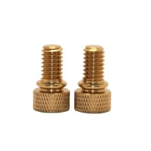 Wholesale Prices High Quality Partial Diamond Knurled Head Brass Thumb Screw