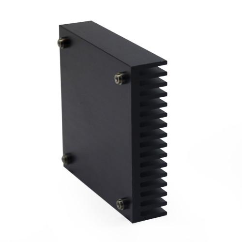 China Factory  Custom Machined Black Anodized Aluminum Half-Brick Heatsink