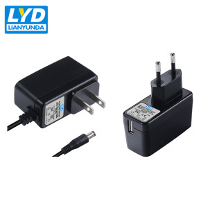wall power adapter input 100-240v AC DC adaptor with EU US Korea plug