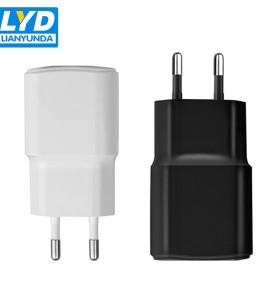 Chargeur de téléphone portable USB unique 5V 1A Chargeur de téléphone portable Prise UE
