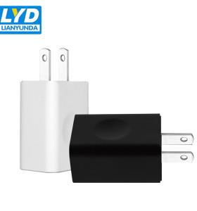 Salida 5v 1a 2a Cargador de viaje USB para teléfono celular de montaje en pared