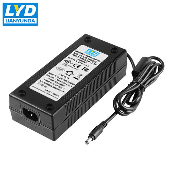 AC Input 100-240V 50-60Hz 24v 4a desktop ac dc power adapter