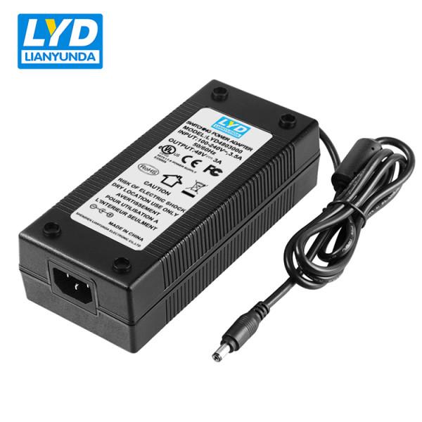 universal C14 output 48v 3a desktop power adapter