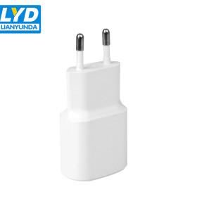 Enchufe de la UE Puerto USB único 5V 2A cargador para teléfonos móviles