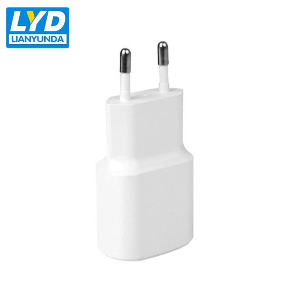 EU plug Single USB port 5V 2A charger for mobile phones
