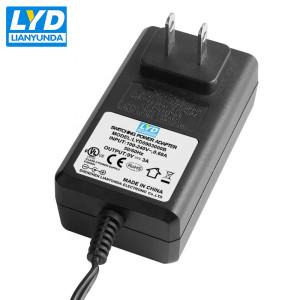 Adaptador de corriente de conmutación de enchufe de EE. UU. 9v 3a ac dc adaptador de corriente