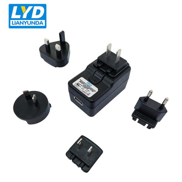 Enchufe intercambiable de EE. UU. 5v 2a adaptador de corriente médica