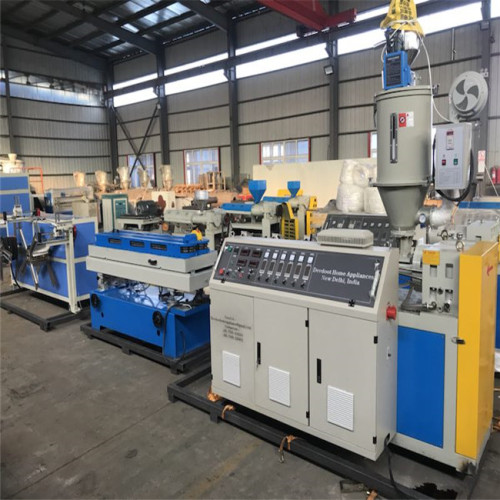 High speed 25m/min Plastic PVC PP PE single wall corrugated pipe extrusion line