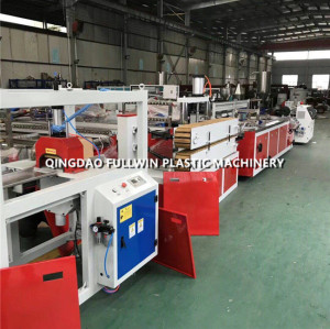 upvc sheet profile extrusion machine with profile wrapping machine