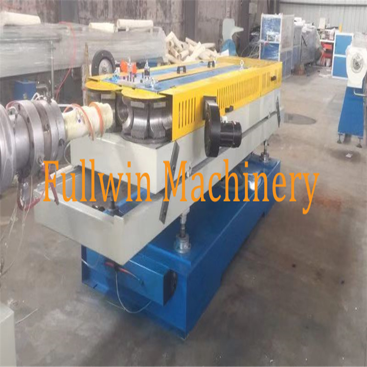 the usage for double wall corrugated pipe machine with plastic extrusion line