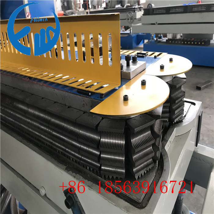 three channel pvc corrugated pipe machine