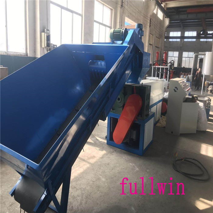 2019 wast film hdpe recycling granulator machine for egypt customer Double Step HDPE Flakes Plastic