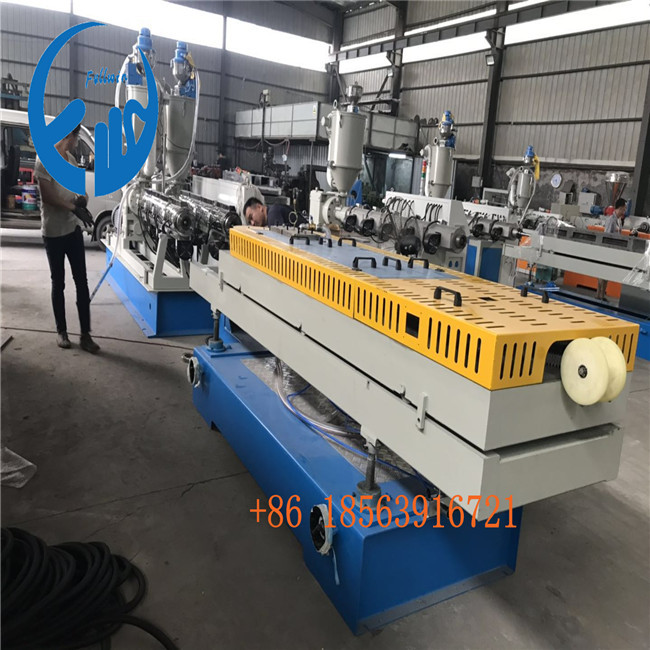 pe fresh air duct hose ventilation DWC double wall corrugated extrusion line for domestic customer