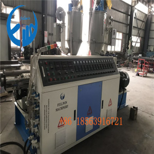 laiwu customer double wall corrugated pipe making machine