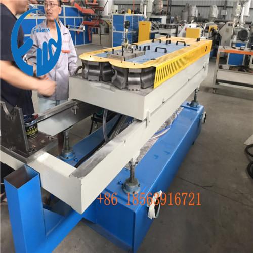 laiwu customer double wall corrugated pipe making machine