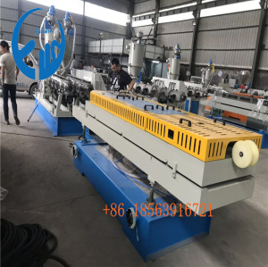 laiwu customer double wall corrugated pipe making machine DWC plastic extrusion line