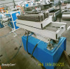 three sizes channel of courrugated pipe machine extrusion line for middle east customer test before shipment