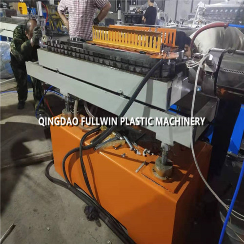 HDPE plastic corrugated pipe with wire making machine