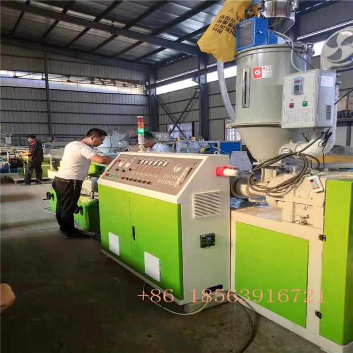 Bangla customer 8-32mm high speed single wall corrugated pipe machine ready for ship