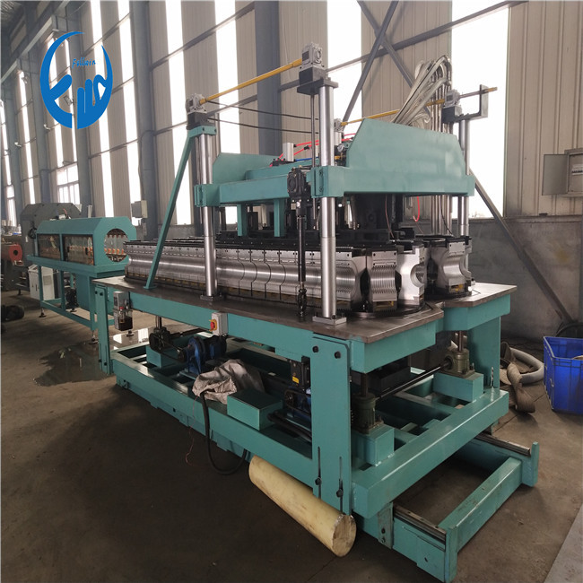 90mm pe double wall corrugated pipe machine