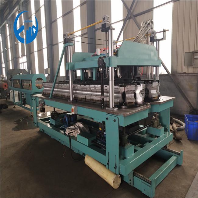 90mm pe double wall corrugated pipe machine