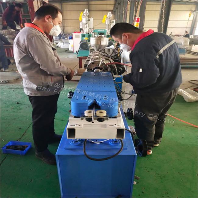 small diameter corrugated pipe machine testing running