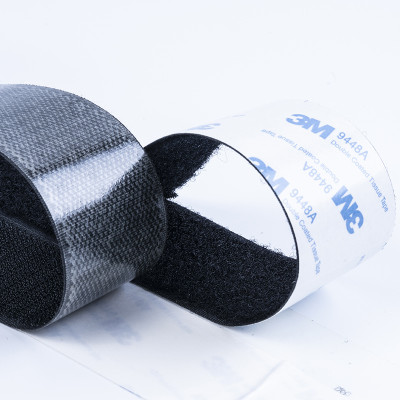 best quality Self-Adhesive Heat resistant 3M adhesive hook and loop tape 100% prue nylon
