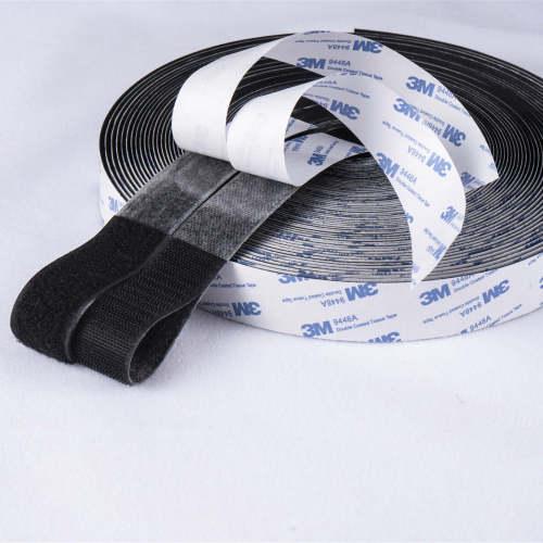 best quality Self-Adhesive Heat resistant 3M adhesive hook and loop tape 100% prue nylon