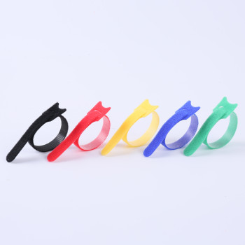 Self-Locking Ultra Thin Colorful Nylon Back to Back Hook and Loop Cable Tie