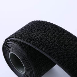 Factory 100% Nylon Black Magic Tape Unsnapped Hook and Unbrushed Loop