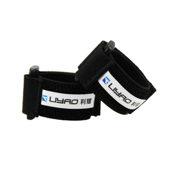 Customizable Logo Flexible Elastic Cable Ties Hook and Loop Band with Buckle for Garments