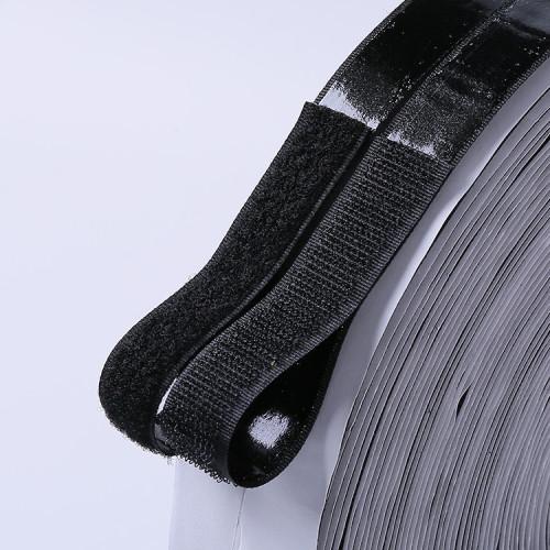 1 yard 4 inch self adhesive black acrylic hook and loop