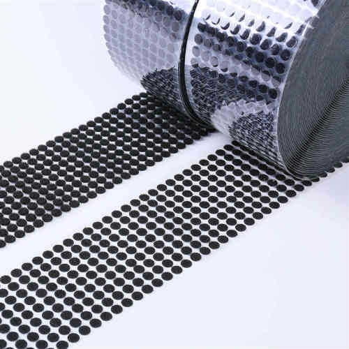 1 inch continuous black hook and loop strap -tape -adhesive