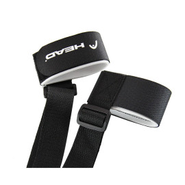 Amazon Custom Adjustable Nylon Hook and Loop Ski Strap Band with Plastic Buckle for Skiing