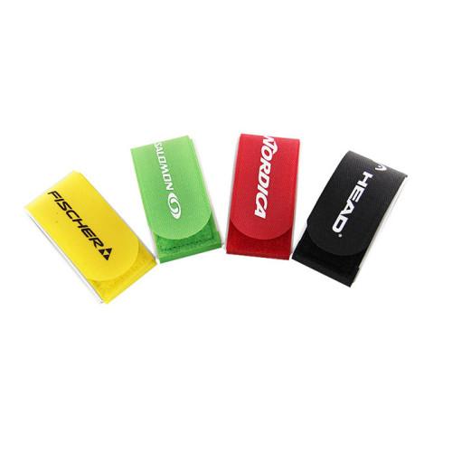 Amazon Custom Adjustable Nylon Hook and Loop Ski Strap Band with Plastic Buckle for Skiing