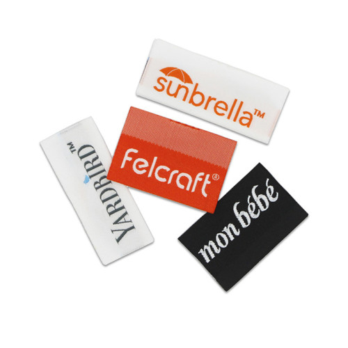 Custom Made Black and White Woven Clothing Labels Suppliers