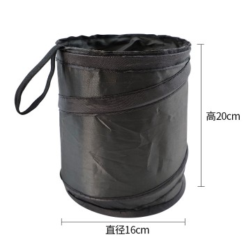 Hoop and Loop Portable Environmental Protection Mini Foldable Car Trash Can