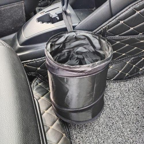 Hoop and Loop Portable Environmental Protection Mini Foldable Car Trash Can