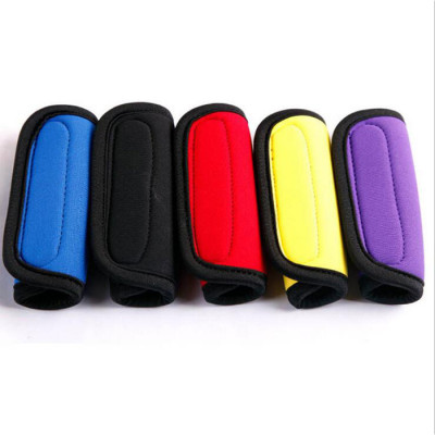 Custom Logo Printed Suitcase Durable Reusable Neoprene Luggage Handle Cover