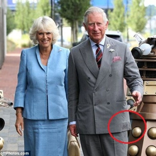 The royal family is also thrifty: the British Crown Prince Charles wears