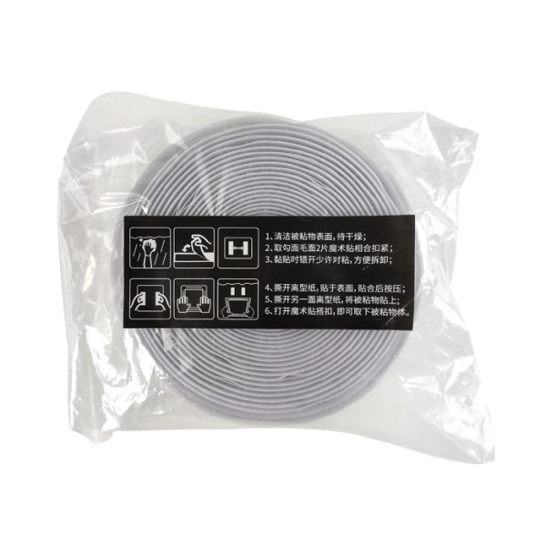 Hot quality black color nylon sticky back self adhesive hook and loop fastener tapes
