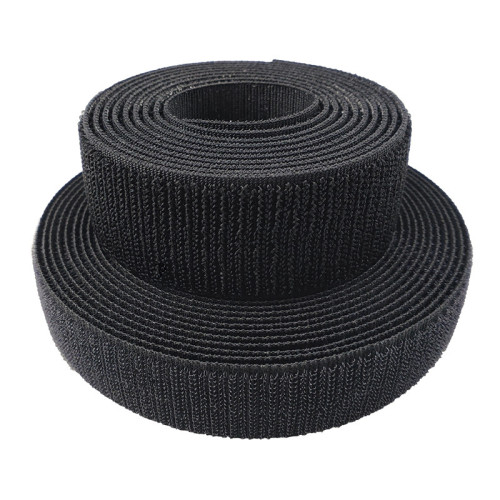 Customized 20mm Durable Low Elasticity Hook And Loop Fabric Band Tape Woven Hook Fastener