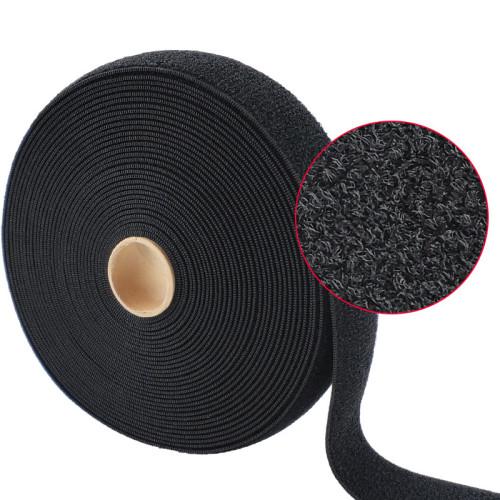 Garment Soft Washable Knitted Elastic Loop Surface Hook And Loop Fastener
