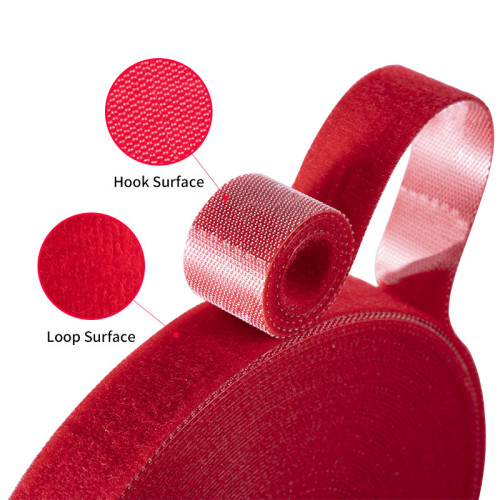 China 25mm Soft Back To Back Injection Hook And Loop With Tearing Line Fastener Tape For Garment Use