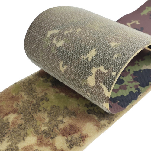 Customized Pattern Self-Adhesive Nylon Military Camouflage Hook And Loop For Uniform Army